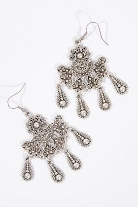 Isle & Tribe Shakti Silver Antique Earrings