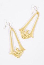 Mahalia Gold Antique Earrings