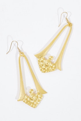 Isle & Tribe Mahalia Gold Antique Earrings