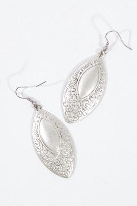 Isle & Tribe Lottie Silver Antique Earrings