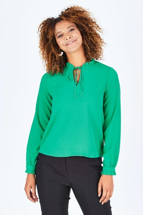 Only Nova Lux Long Sleeve Tie Top