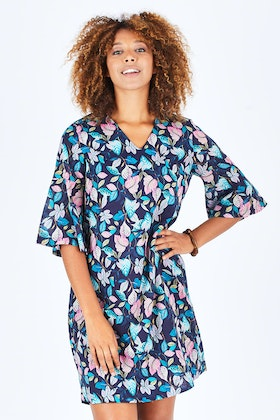 Yarra Trail Leaf Print Dress