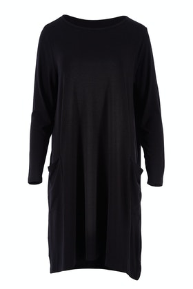 Vigorella Long Sleeve Tunic Dress With Pockets