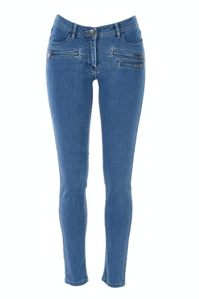 Vigorella Mid Rise Skinny Leg Jeans