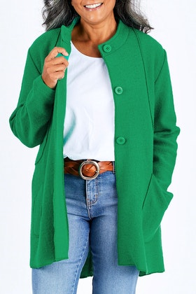 See Saw Nehru Collar Coat