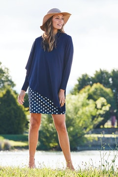The Spotted Cape Dress