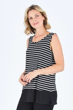 Threadz Reversible Stripe V Scoop Neck Tank