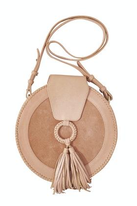 Ovae Harlequin Leather Round Bag