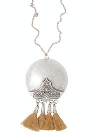 Shiloh Antique Tassel Necklace