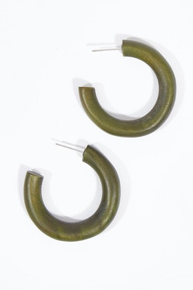 Rare Rabbit Medium Hoop Earrings