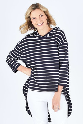 Tirelli Jersey Split Back Hooded Top