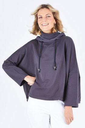 Tirelli Oversize Contrast Hood Top