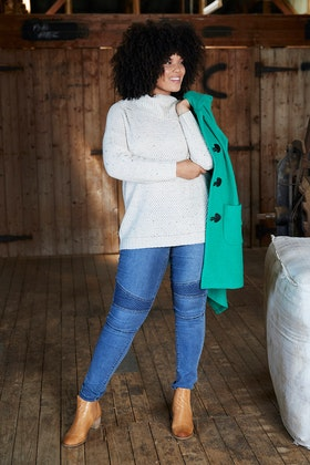 bird keepers The Fleck Roll Neck Knit