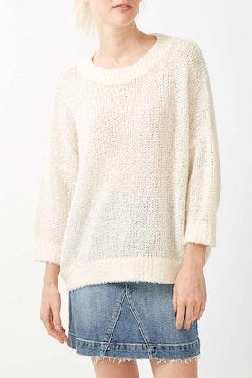 JAG Half Sleeve Fluffy Knit