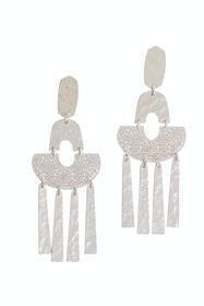 Silver Filigree Hammered Earrings