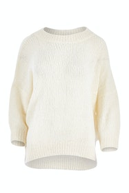 Half Sleeve Fluffy Knit