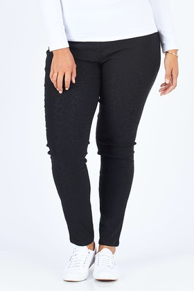 Vassalli Skinny Leg Embossed Pull On Pant