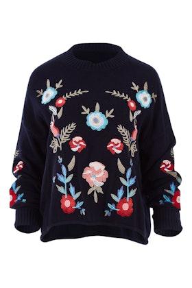Threadz Floral Embroidered Jumper