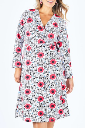 Scandi bird Solsken Jersey Wrap Dress