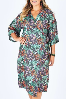 Scandi bird Frukttradgard Wrap Dress