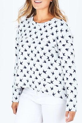 Tirelli Bird Print Jumper