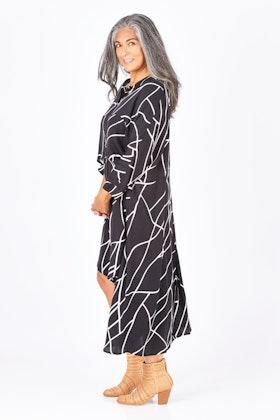 PQ Collection Cascade Shirt Dress
