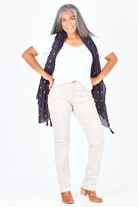 Vassalli Slim Leg Full Length Luxe Jean