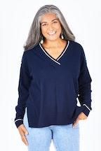 JAG Cotton Cashmere V Neck Knit