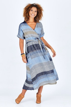 Brave & True Pansies Wrap Dress