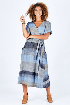 Pansies Wrap Dress