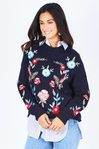 Threadz Floral Embroidered Jumper