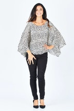 Spicy Sugar Relaxed Animal Print Blouse
