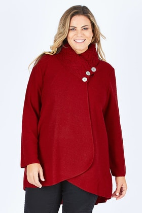 See Saw Cable Collar Coat