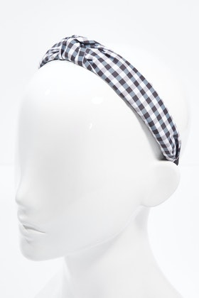 Brave & True Gingham Check Knot Headband