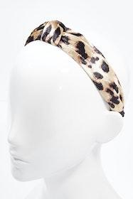 Natural Leopard Knot Headband