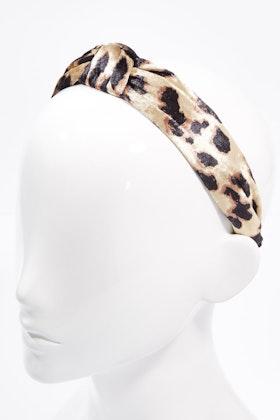 Brave & True Natural Leopard Knot Headband