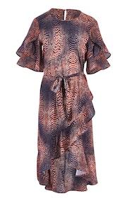 Animal Wrap Dress