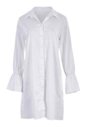 Belle bird Belle Longline White Shirt