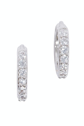 Jolie & Deen Small Hoop Crystal Earrings