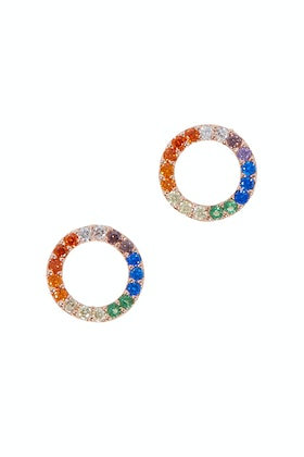 Jolie & Deen Crystal Circle Earrings