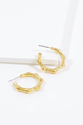 Jolie & Deen Bamboo Hoop Earrings