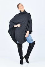 Everyday Cashmere Turtle Neck Poncho