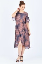 3rd Love Animal Wrap Dress