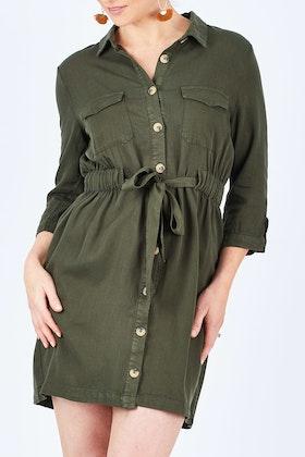 Sass Seeker Belted Shirt Dress