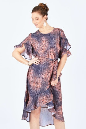 3rd Love Animal Wrap Dress