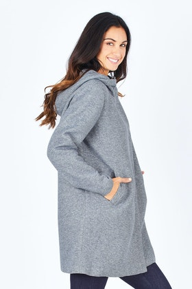 Only Maddie Light Hooded Long Coat