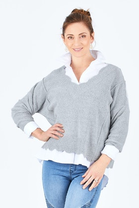 Sass Out Of My Mind Scallop Knit