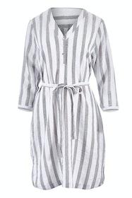 3/4 Sleeve Tie Waist Stripe Dress