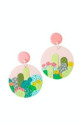 Seeking Hazel Arizona Cactus Dangle Earrings