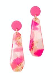Pink Power Long Earrings